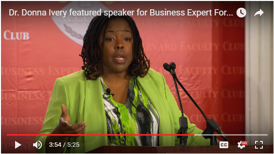 Harvard Business Expert Forum Dr. Donna Ivery HerCare